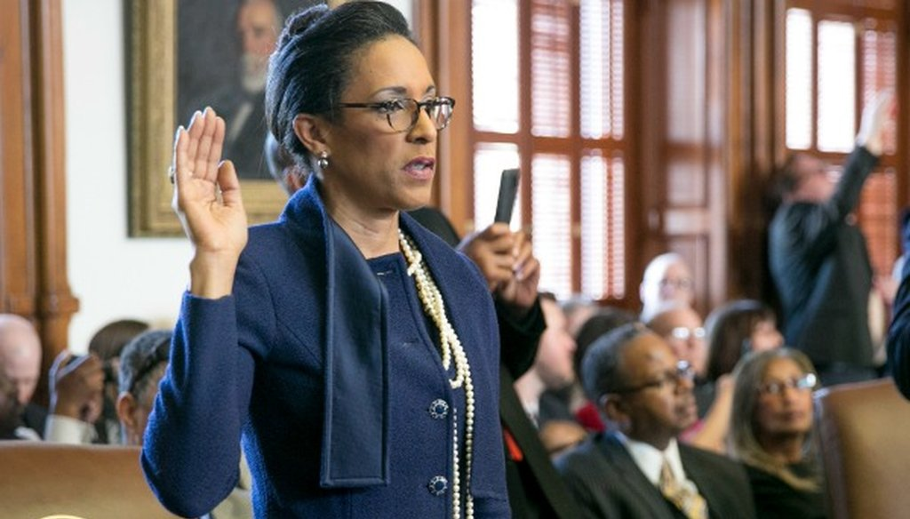 Dawnna Dukes was sworn in for her 12th term in the Texas House on Jan. 10, 2017 (Jay Janner, Austin American-Statesman).