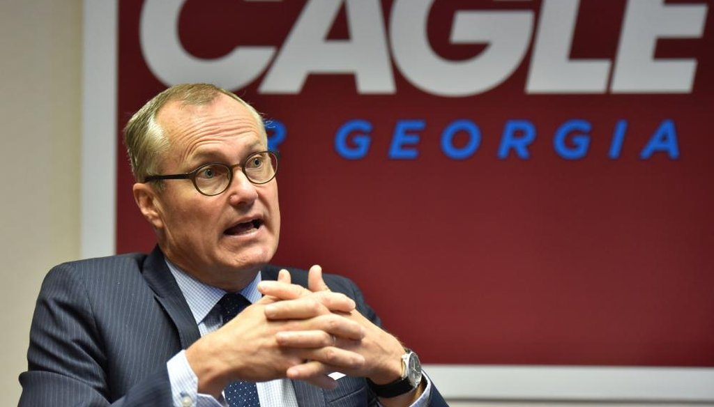 Lt. Gov. Casey Cagle is running to replace Georgia Gov. Nathan Deal. (Atlanta Journal-Constitution)