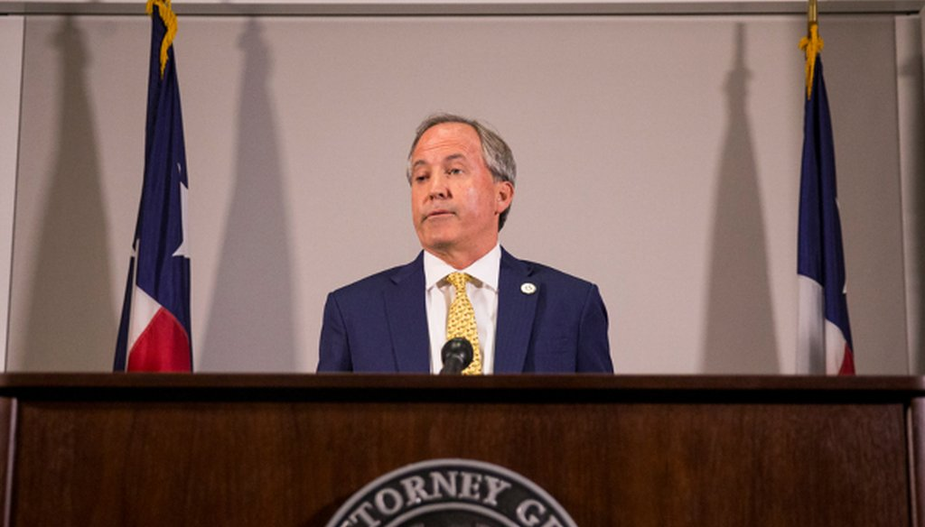 Is Ken Paxton, the Texas attorney general seeking re-election in 2018, the nation's only indicted statewide official? That appeared to be the case after Missouri's governor resigned June 1, 2018 (Austin American-Statesman photo).