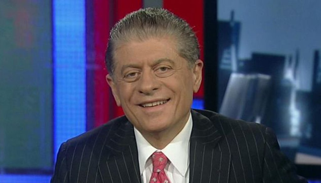 Judge Andrew Napolitano waded into the rancher Cliven Bundy controversy, arguing that the constitution gives Washington no right to own a large portion of Nevada.