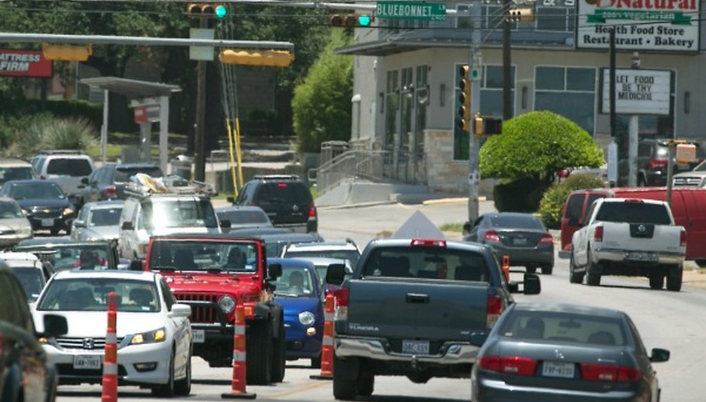 A stretch of South Lamar Boulevard in Austin would be affected if Austin voters approve Proposition 1 on the November 2016 ballot (Photo: Ralph Barrera, Austin American-Statesman, June 2016).