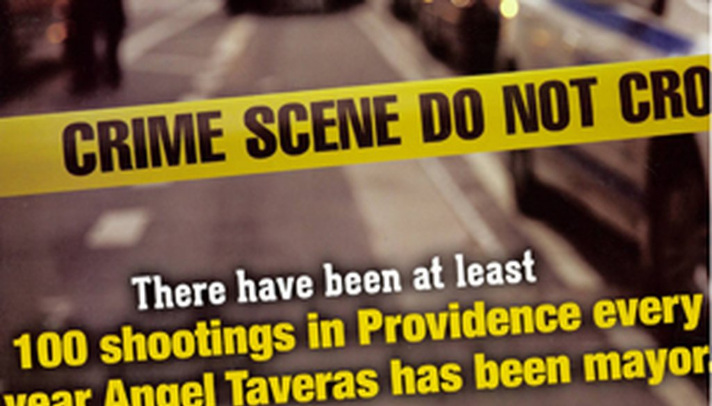 One of the mailings by the American LeadHERship PAC talking about shootings in Providence.