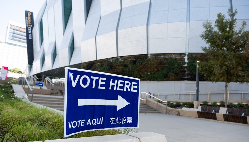 The Sacramento Kings Golden1 Center arena serves as a vote center through Election Day, Nov. 3. Andrew Nixon / CapRadio