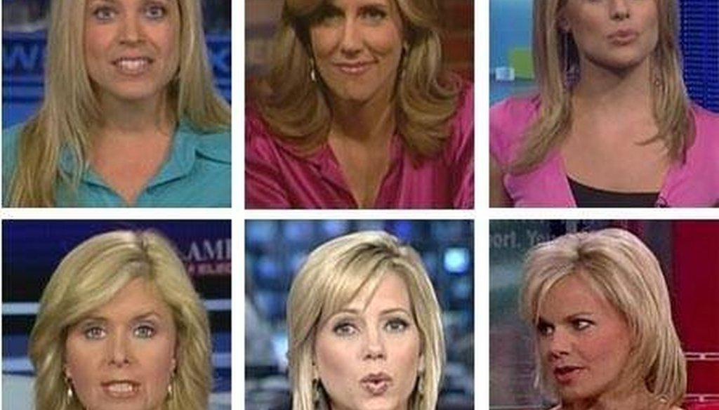 For several years, this image of Fox News hosts has made the rounds on social media.