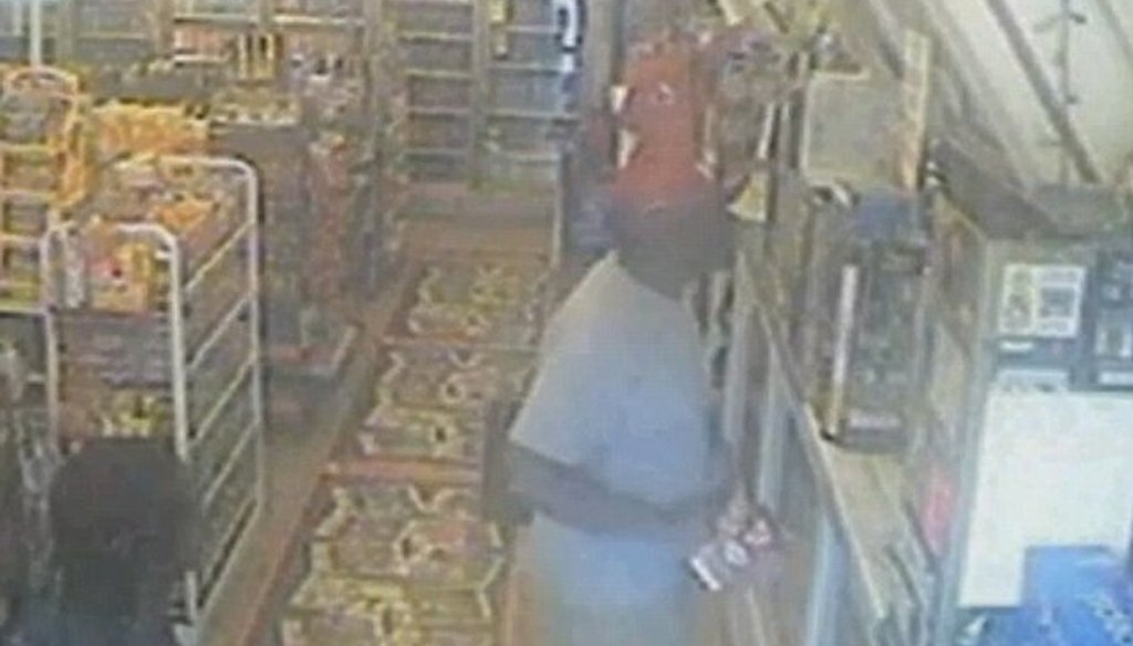 MSNBC was the first of the three cable networks to air surveillance video of the alleged robbery in Ferguson, Mo.