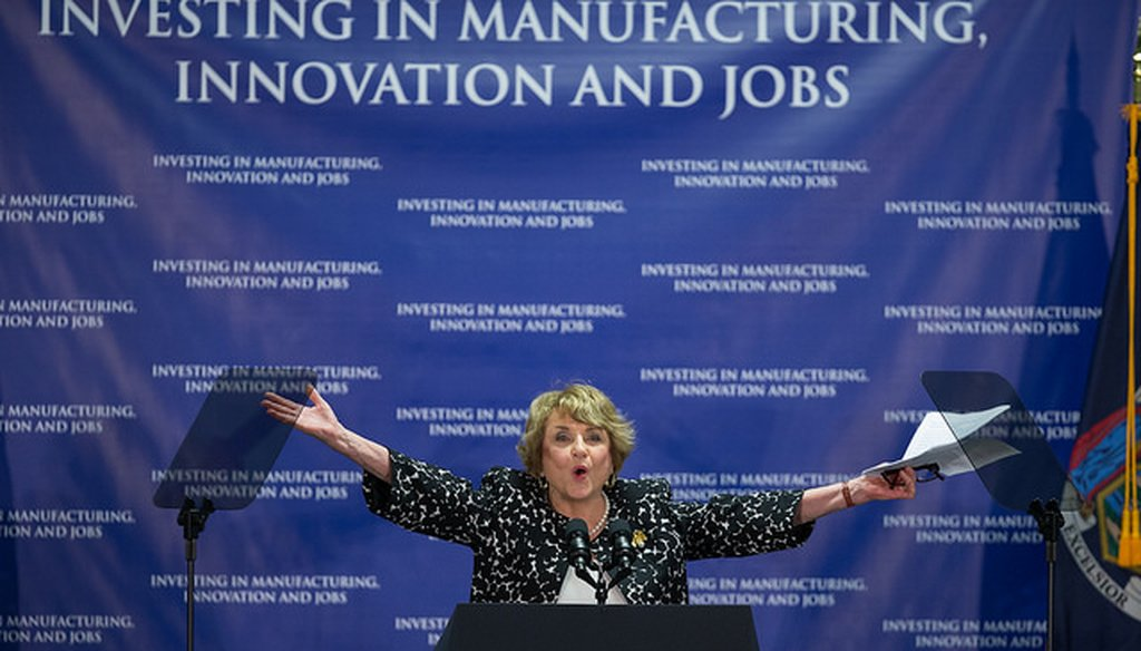 Rep. Louise Slaughter at the announcement of a photonics institute in Rochester on July 27, 2015 (Courtesy: Governor Andrew M. Cuomo's Flickr page)