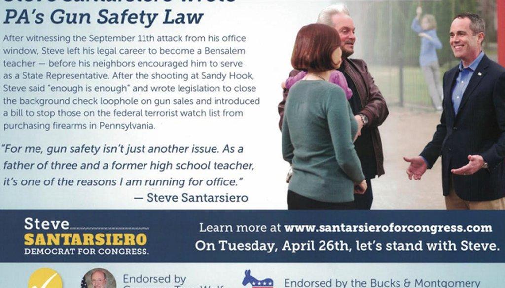 Steve Santarsiero campaign mailer