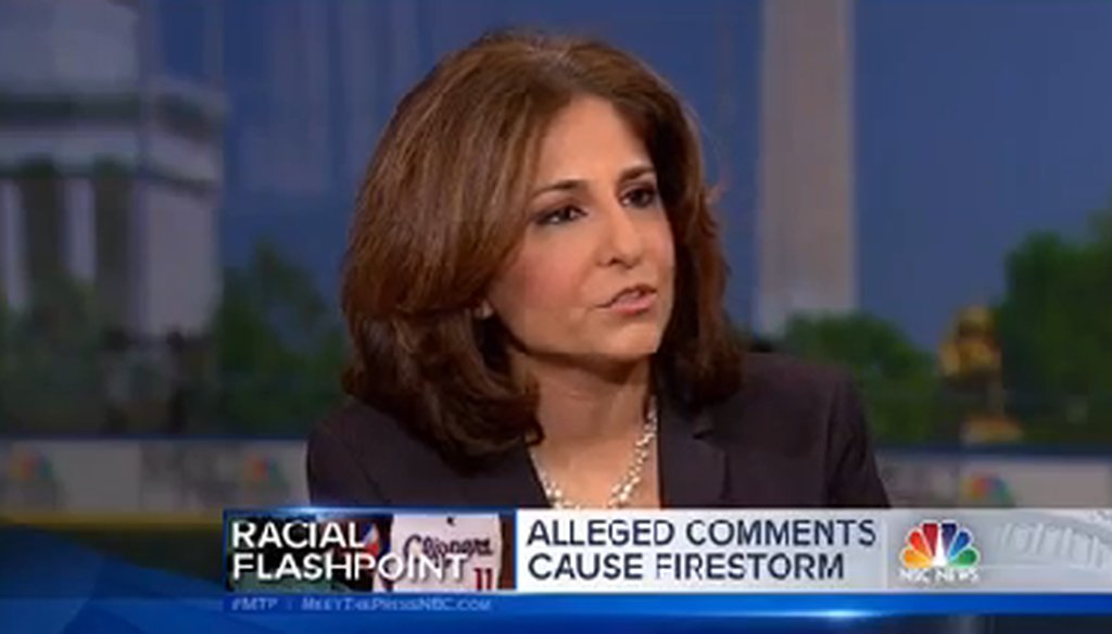 "Neera Tanden appeared on ""Meet the Press"" on April 27, 2014."