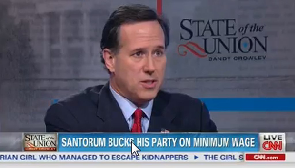 "Rick Santorum appeared on CNN's ""State of the Union"" on May 11, 2014."