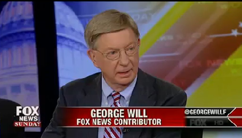 "George Will appeared on ""Fox News Sunday"" on May 11, 2014."