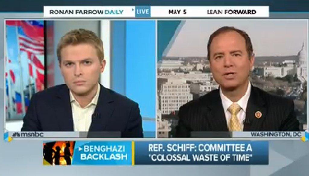 MSNBC host Ronan Farrow discusses embassy funding with Rep. Adam Schiff, D-Calif.