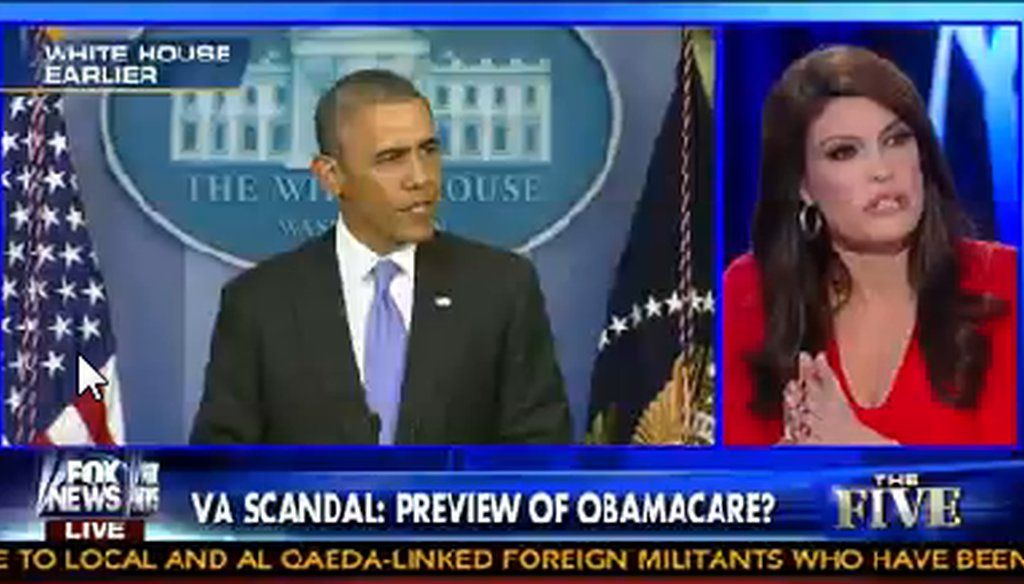 "Fox News host Kimberly Guilfoyle said Obamacare is ""one big fat VA system."""