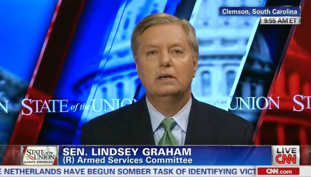 "Sen. Lindsey Graham appeared on CNN's ""State of the Union"" on July 27, 2014."