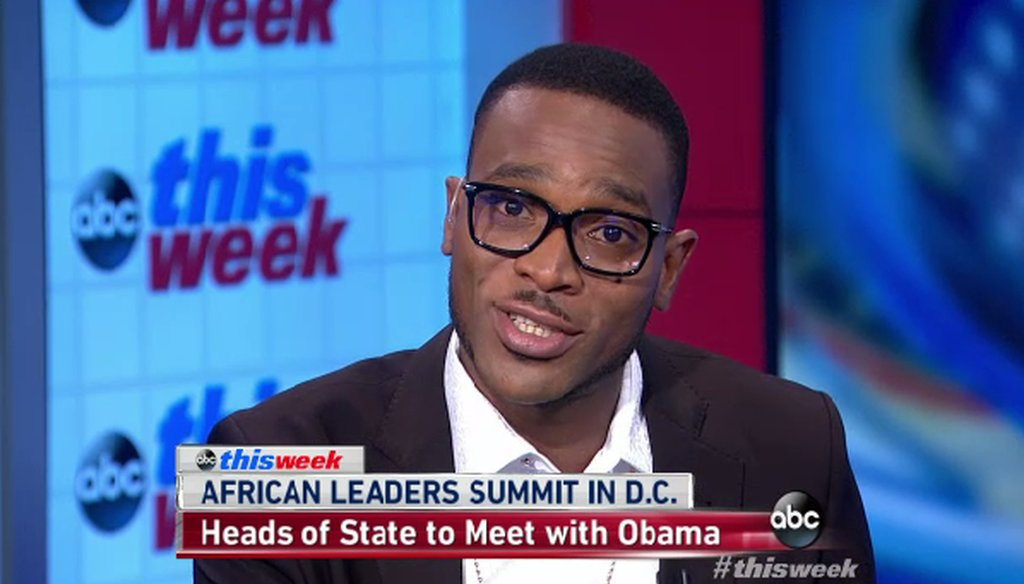 "D'Banj appeared on ABC's ""This Week"" on Aug. 3, 2014."