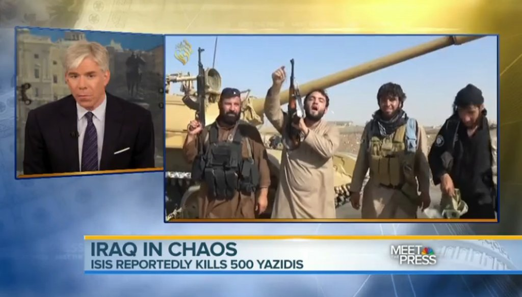 "NBC's David Gregory talking about the situation in Iraq on ""Meet the Press."""