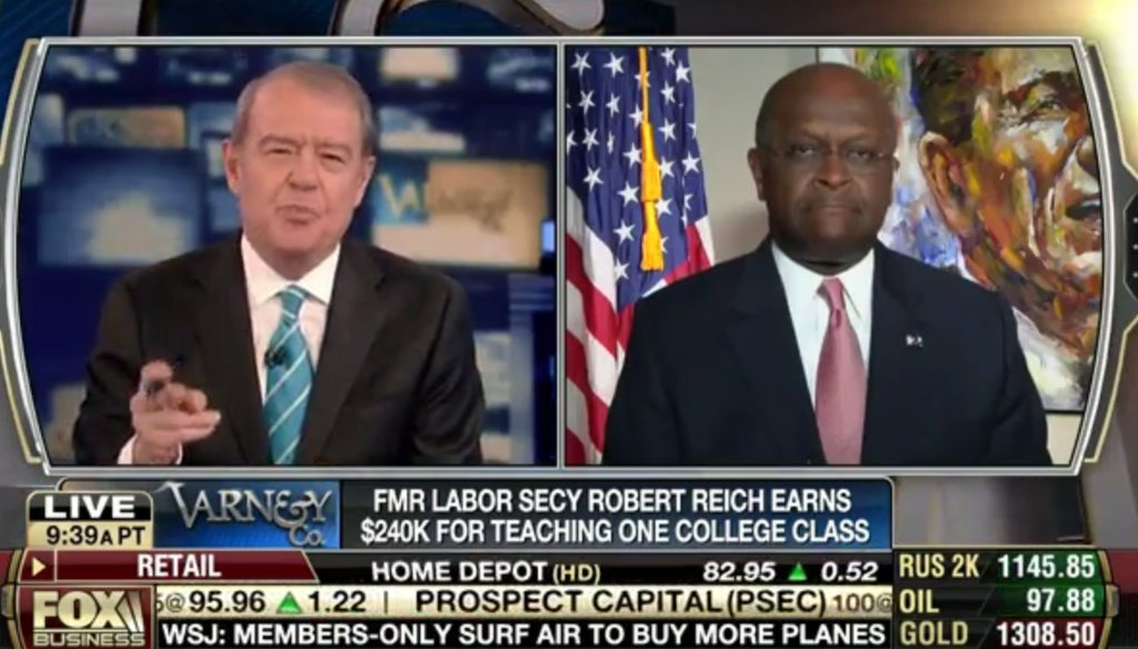 "Herman Cain on ""Varney and Co."" on Aug. 11, 2014."