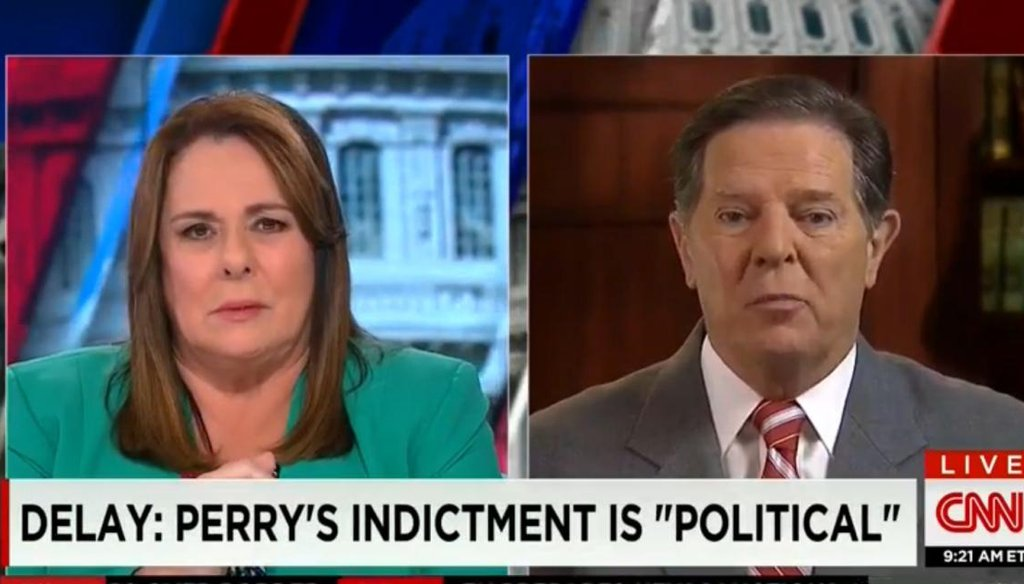"""Former Texas Rep. Tom Delay appeared on CNN's """"State of the Union"""" on Aug. 31, 2014."""