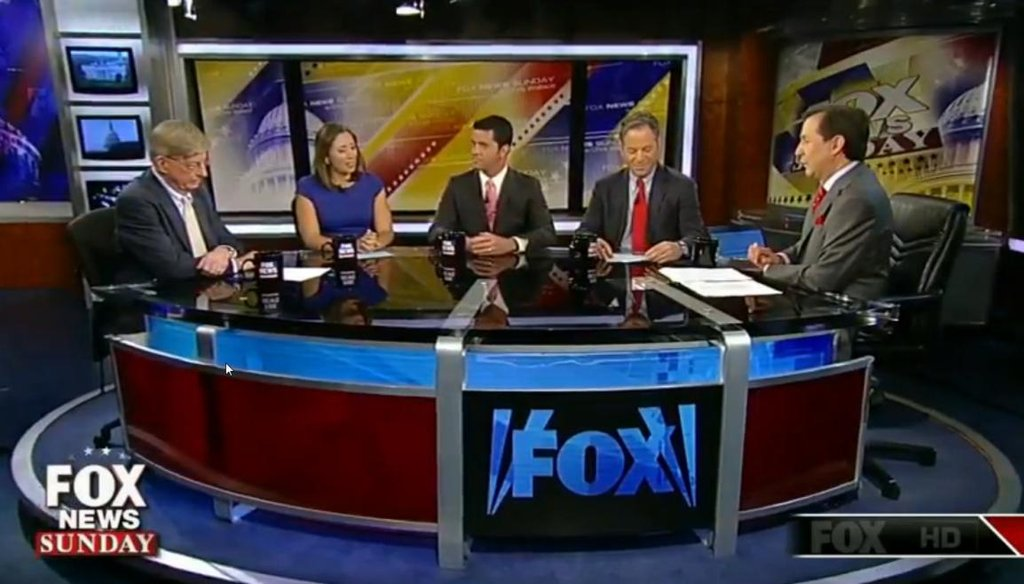 """The """"Fox News Sunday"""" pundit panel discussing the ISIS threat on Aug. 31, 2014."""