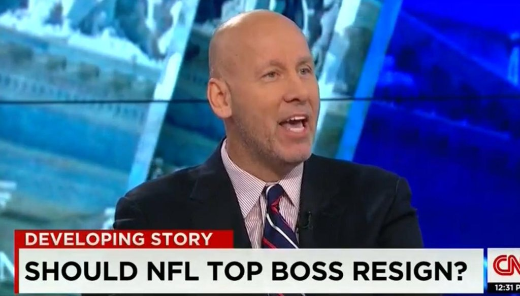 """""""Washington Post"""" columnist Mike Wise said on CNN that NFL Commissioner Roger Goodell should lose his job."""