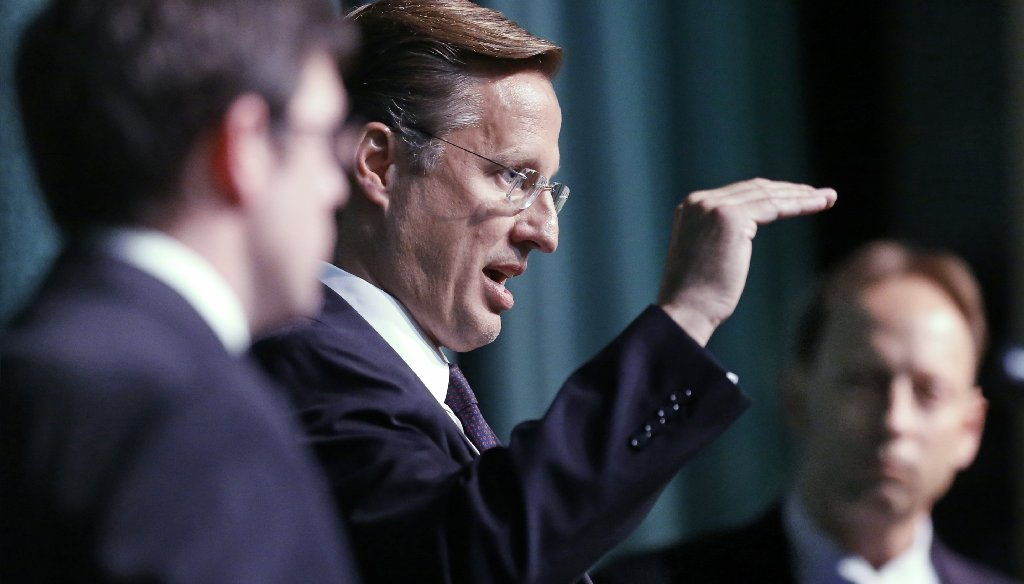 Rep. Dave Brat has made his claim about voting against the Iran deal in several recent appearances. (Photo by the Richmond Times-Dispatch)