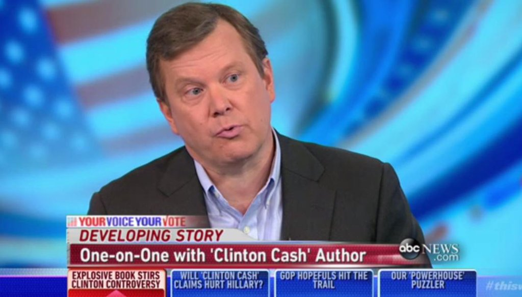 'Clinton Cash' author Peter Schweizer.