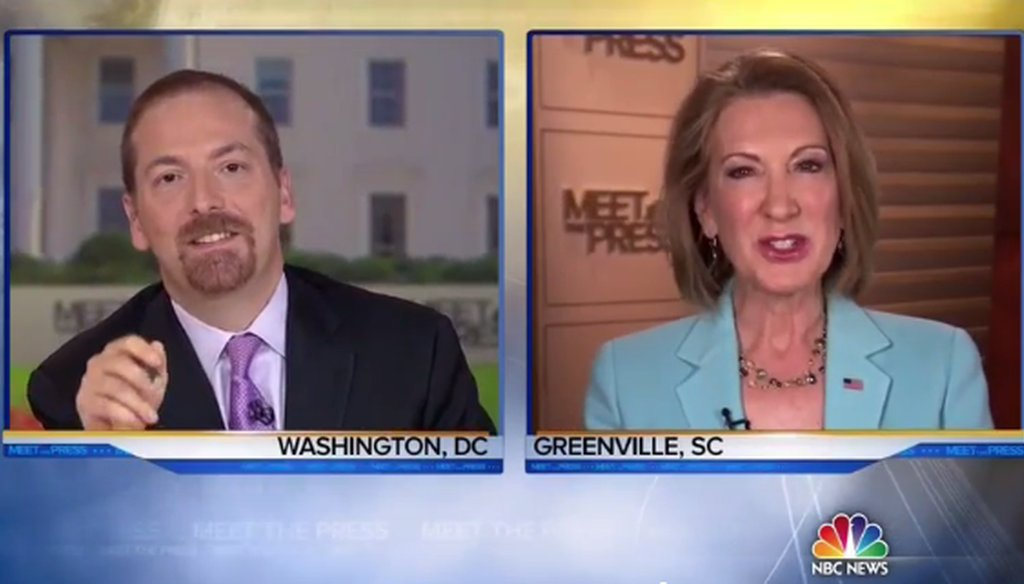 "Carly Fiorina on ""Meet the Press"" May 10, 2015."