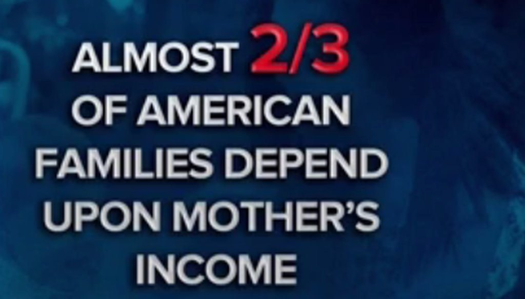 "Maria Shriver said, ""Two-thirds of American families rely on the mother's income to stay above the poverty level."" (NBC screen grab)"