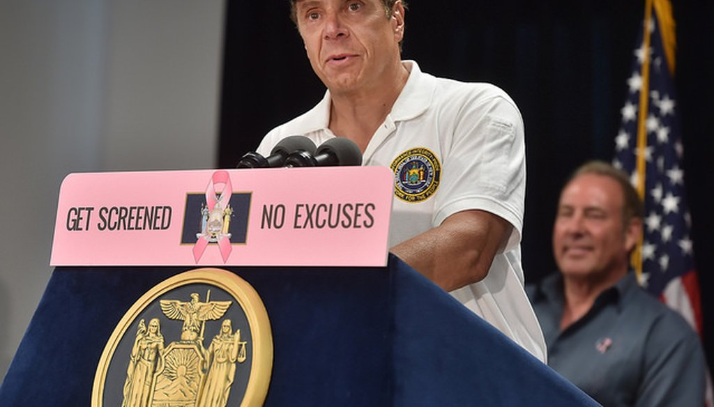 Governor Andrew Cuomo delivers remarks in Victor, NY on July 8, 2016. (Governor Cuomo's Flickr Page)