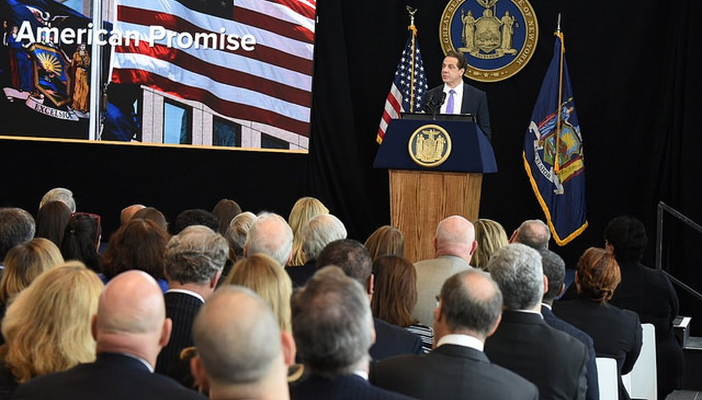 Gov. Andrew M. Cuomo delivers his State of the State speech in Buffalo on Jan. 9, 2017 (Courtesy: Cuomo's Flickr page)