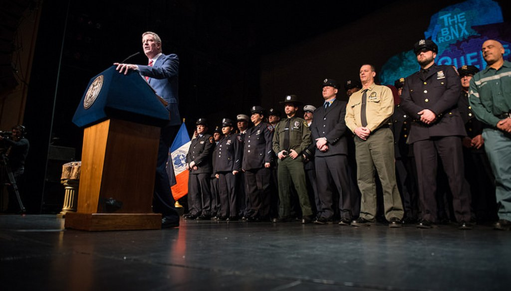New York City Mayor Bill de Blasio delivers his 2017 State of the City address. (Courtesy: NYC Mayor's Office Flickr Account)