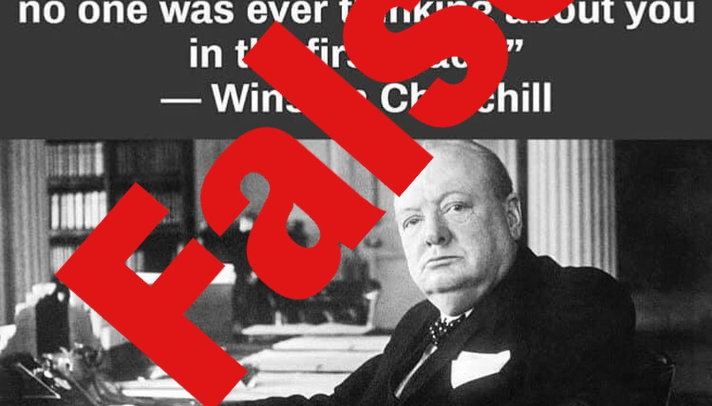 Winston Churchill didn't make this statement about age.