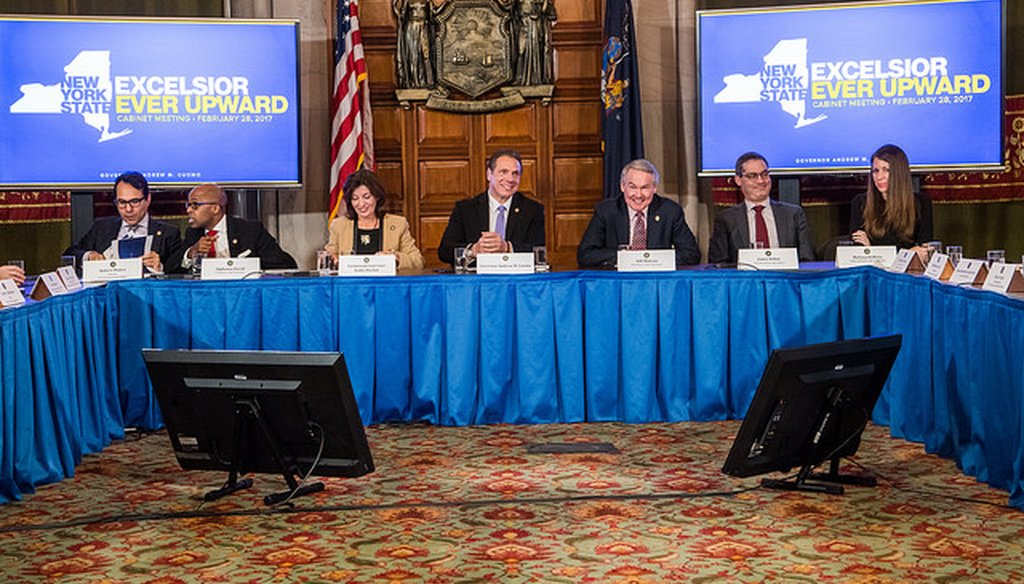 Gov. Andrew M. Cuomo holds a cabinet meeting on Feb. 28, 2017 (Courtesy: Cuomo's Flickr page)