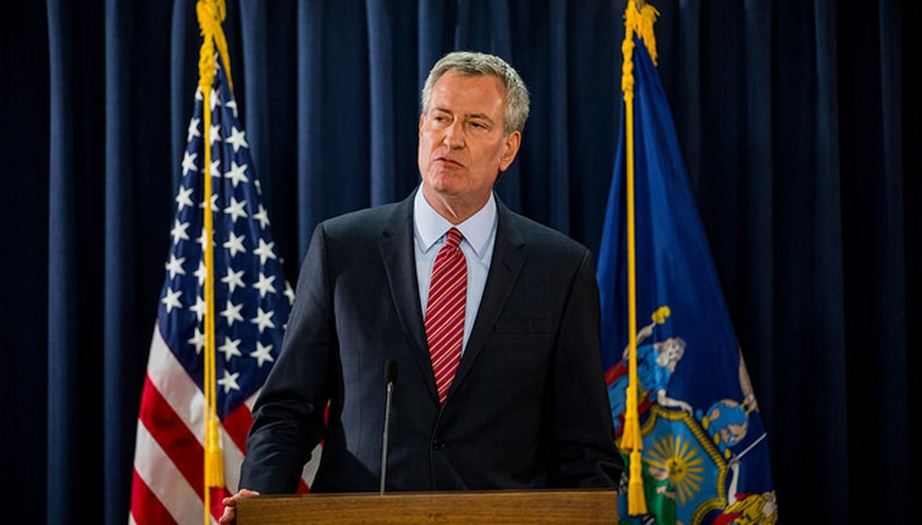 New York City Mayor Bill de Blasio claimed graduation rates in New York City schools have increased as much as 50 percent since the state legislature gave control to the city's mayor. (Courtesy: NYC Mayor's Flickr page)