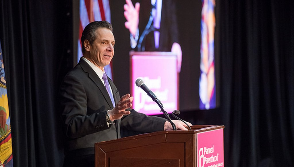 Gov. Andrew M. Cuomo claimed half of women killed in the U.S. involve an intimate partner. (Courtesy: Cuomo's Flickr account)