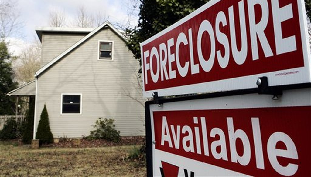 A foreclosed home in Egg Harbor Township, N.J., in 2008. The U.S. household debt burden is much more manageable today than it was back then, on the cusp of the Great Recession. (AP)