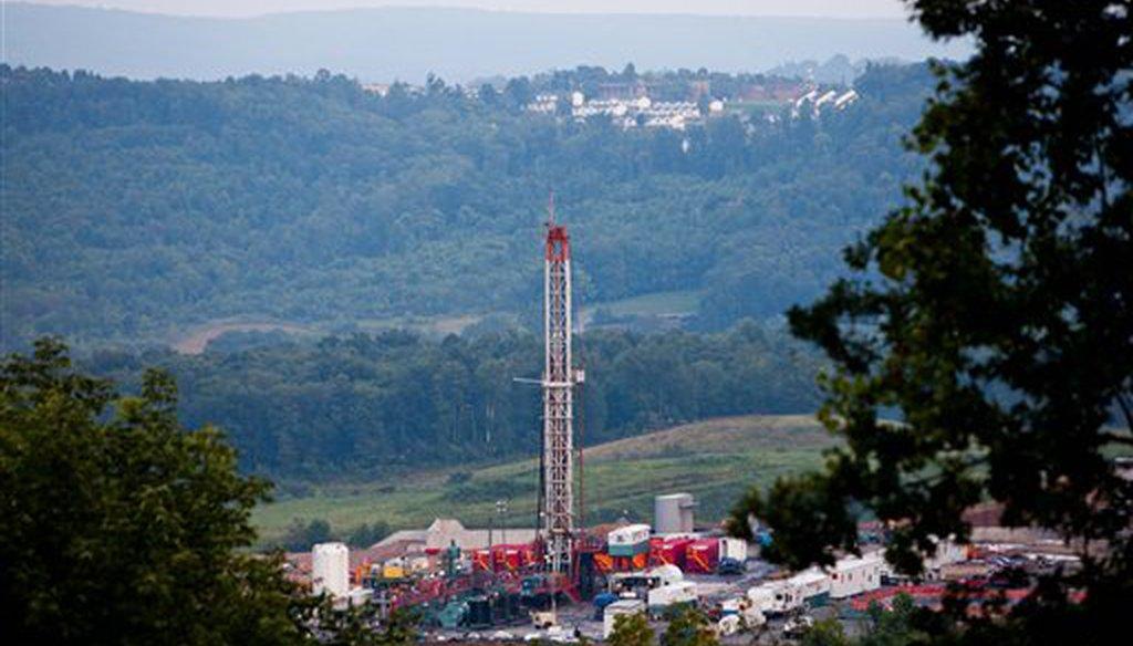 A natural gas well near Morgantown, W.Va., in 2011. (AP)