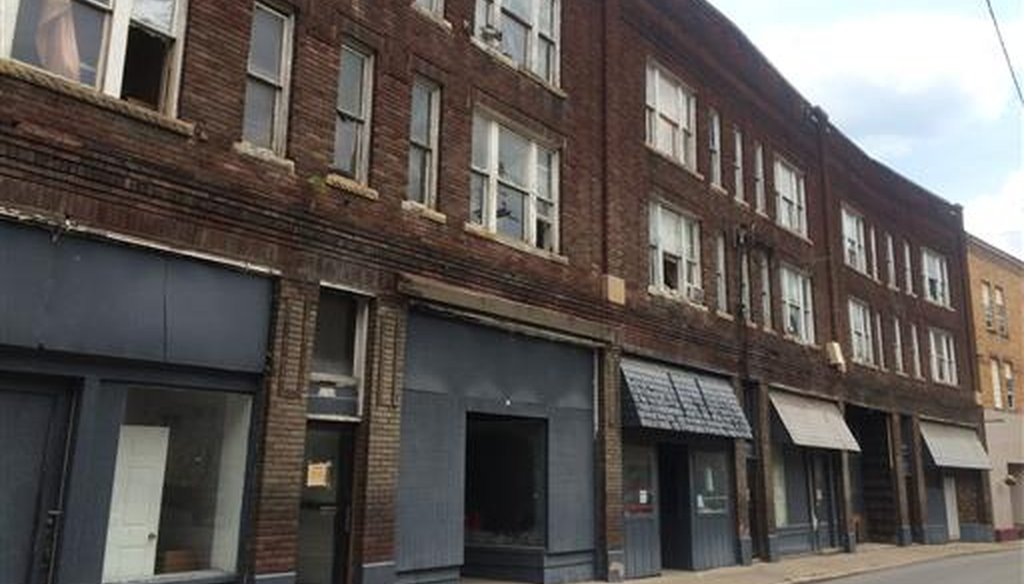 Shuttered storefronts in downtown Logan, W.Va. (AP)