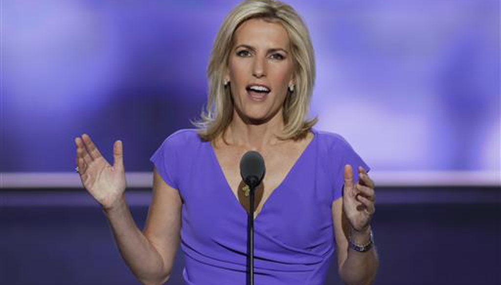 Fox News host Laura Ingraham speaks during the Republican National Convention in Cleveland on July 20, 2016. (AP/Applewhite)