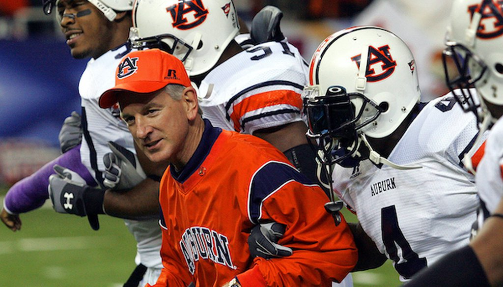 Tommy Tuberville, the 2020 Republican nominee for a U.S. Senate seat from Alabama, was head football coach at Auburn University in Alabama from 1999 to 2008. (AP)