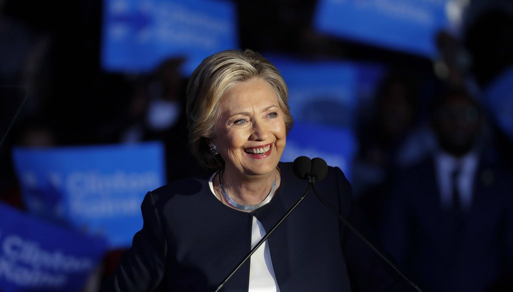 Democratic presidential candidate Hillary Clinton speaks during a campaign rally in Detroit on Nov. 4, 2016. (AP)