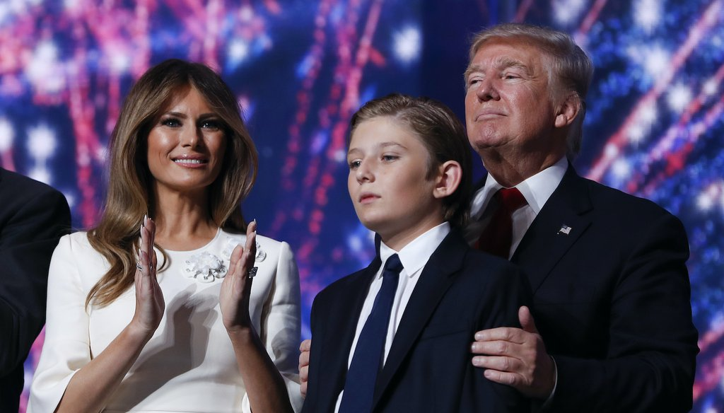 PolitiFact | Melania Trump's $675,000 travel bill was to care for her son, not to get her hair done.