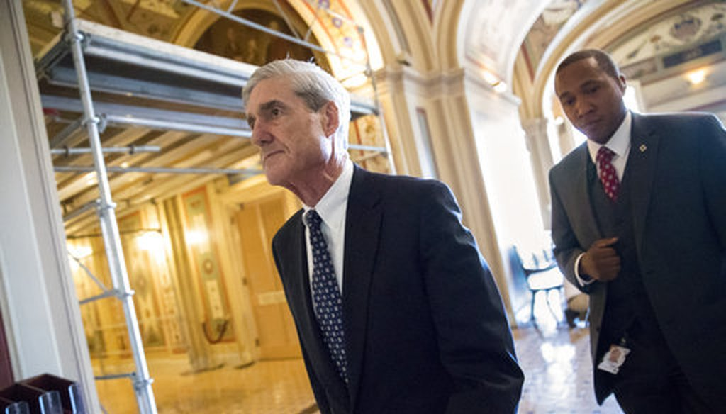 Special counsel Robert Mueller departs after a closed-door meeting with members of the Senate Judiciary Committee on June 21, 2017. (AP/J. Scott Applewhite)