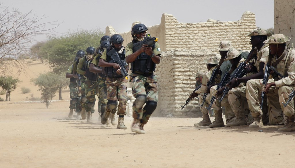 March 7, 2015, Nigerian special forces and Chadian troops participate with US advisors in the Flintlock exercise in Mao, Chad. (AP Images)
