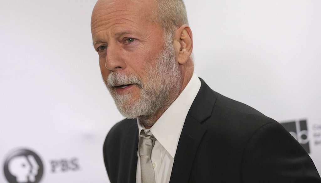 Bruce Willis attends the 2017 Gershwin Prize Honoree's Tribute Concert at the DAR Constitution Hall on Wednesday, Nov. 15, 2017 in Washington. (Associated Press)