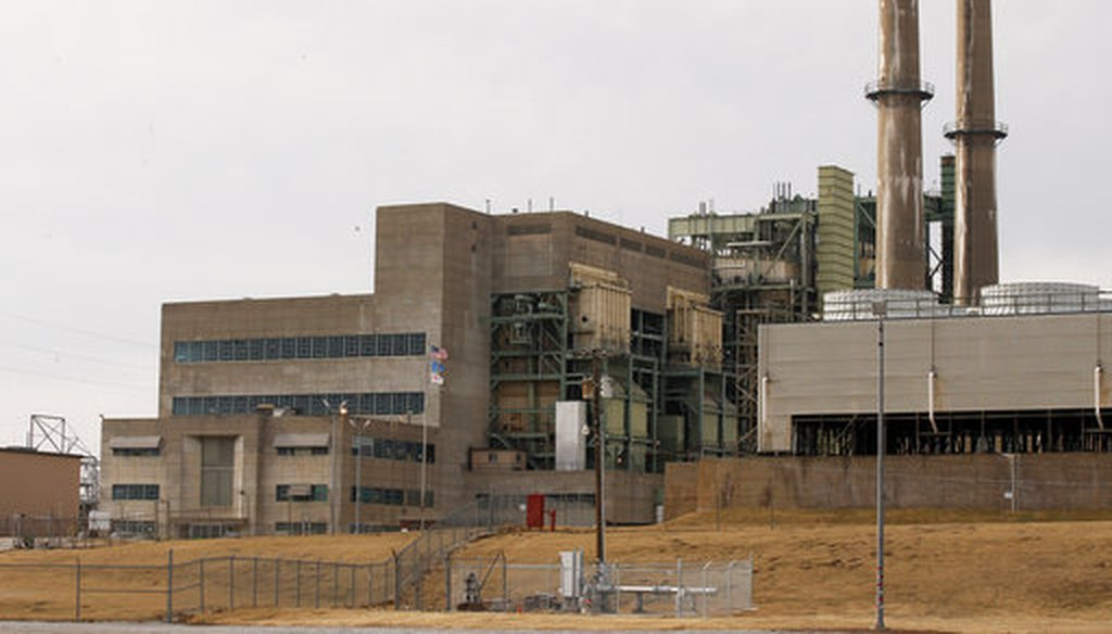 OG&E's Mustang Energy Center power plant in Oklahoma City on Jan. 10, 2018. (AP/Sue Ogrocki)