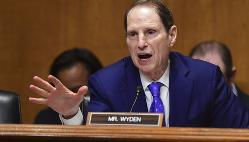 Senate Finance Committee ranking member Ron Wyden, D-Ore., on Feb. 14, 2018. (AP/Susan Walsh)