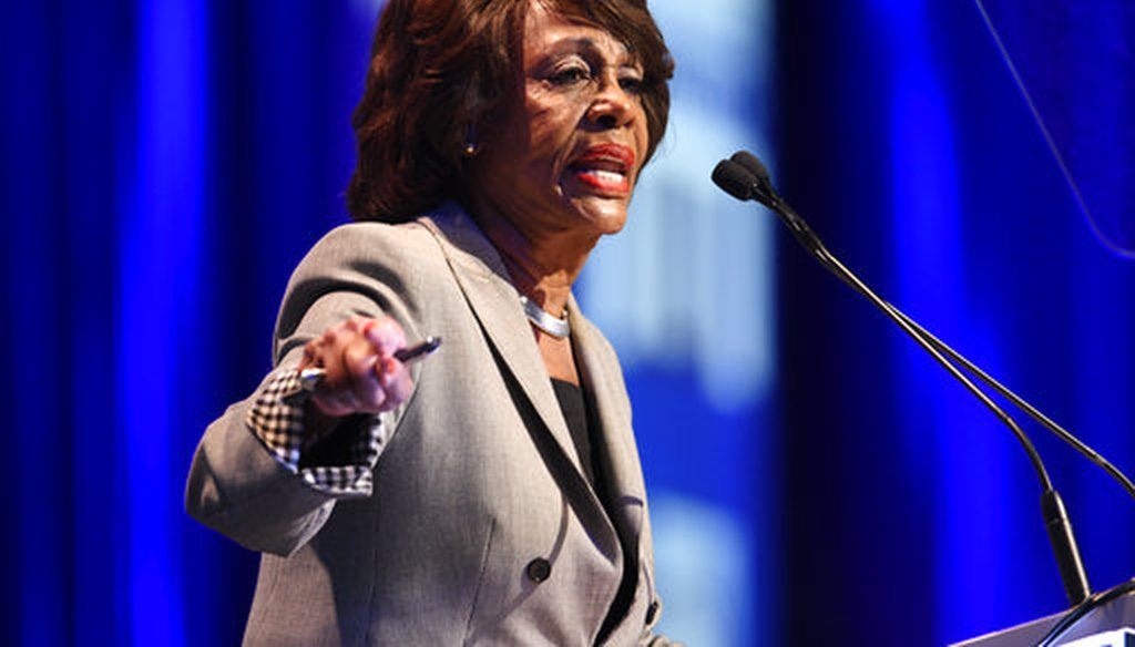 U.S. Rep. Maxine Waters speaks at the 2018 California Democrats State Convention on Feb. 24, 2018, in San Diego. (AP/Denis Poroy)