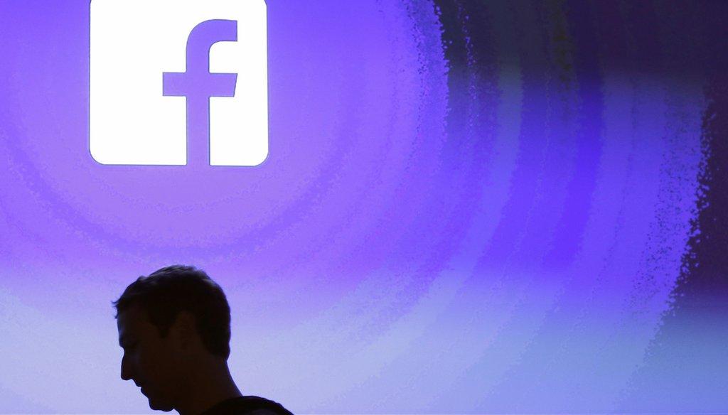 Facebook CEO Mark Zuckerberg at the company's headquarters in Menlo Park, Calif.