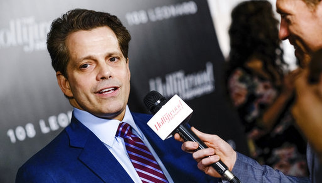 Financier, entrepreneur and political figure Anthony Scaramucci attends The Hollywood Reporter's annual 35 Most Powerful People in Media event at The Pool April 12, 2018, in New York. (AP)