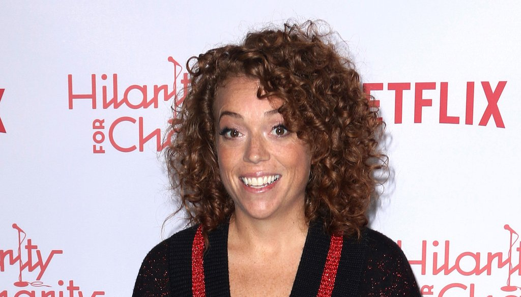 In this March 24, 2018, file photo, Michelle Wolf arrives at the 6th Annual Hilarity For Charity Los Angeles Variety Show. (AP)